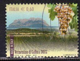 ITALY REPUBLIC ITALIA REPUBBLICA 2012 VINI WINES VERMENTINO DI GALLURA DOCG USATO USED OBLITERE' - 2011-...: Afgestempeld
