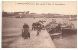 Port Louis, Débarquement Du Thon à La Cale De Gavres, France, Postcard, CPA, Unused - Ohne Zuordnung