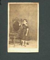 """Fotografia Antiga Do Fotografo """"SA VIANNA PHOT"""". Old CDV Photo - Young Girl - BRASIL / BRAZIL - Ancianas (antes De 1900)"""
