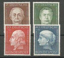 Deutschland Bund West Germany Mi.200/03 Complete Set MNH / ** 1954 - Ungebraucht