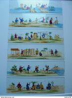CHINE Scènes Chinoises Peintes Sur Plaques De Verre  19 ème  6 Plaques Pour Lanterne Magique Très Rare Dans Cet état - Glasplaten