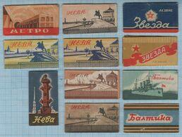 USSR / 11 Vintage Razor Blades / Soviet Union / RUSSIA. 1950-60s - Lames De Rasoir