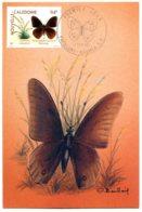 FDC 1990 - Nouvelle Calédonie - Timbre YT 266 94 F. Plante Et Papillon - Dessin De Baillais - Butterflies
