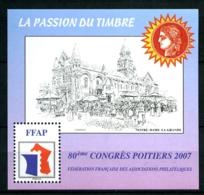 Bloc FFAP N° 1 - Poitiers 2007 - Neuf N** - TB - FFAP