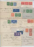 GB: Georges VI, Petit Lot D'affranchissements Différents Pour La Belgique, TB - Postmark Collection
