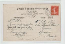 BORDEAUX A BUENOS-AIRES 1° Ligne J N° 3, Salle N° 1111 / Yv 138 / CPA ( Lisbonne ) De 1915 - Postmark Collection (Covers)
