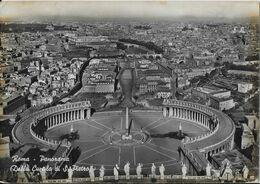 1948 Rome Vatican Italy Vintage Postcard Panorama Dalla Cupola Di San Pietro Ferrovia Railway - Panoramic Views