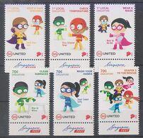 """Singapore 2020 """"Soaper 5"""" Heroes For Kids Fight Covid Virus Coronavirus Mask Safe Distance - Krankheiten"""