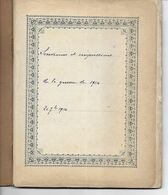 Cahier Manuscrit Souvenirs Et Impréssion De La Guerre De 1914 Le Havre Hôpital Frankliin - Pas Carte Postale - - Otros