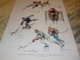 ANCIENNE PUBLICITE JOUEUR DE HOCKEY SUR GLACE 1932 - Hockey - NHL