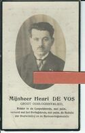 Henri De Vos O Melden 1894 + Leupegem 30-09-1929 - Devotion Images