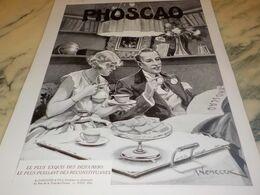 ANCIENNE PUBLICITE DEJEUNER EXQUIS CHOCOLAT PHOSCAO 1932 - Afiches