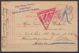 """Carte Postale Russe """"Pour Les Prisonniers De Guerre"""" Datée 13 IV 1916 De ROSTOFF Pour L'Autriche - Cachet """"Croix Rouge D - 1917-1923 Republic & Soviet Republic"""