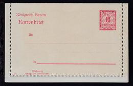 Kartenbrief Ziffer 10 Pfg. - Bayern (Baviera)