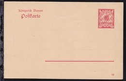 Postkarte Ziffer 10 Pfg. - Bayern (Baviera)