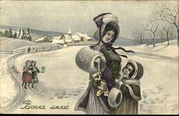 BONNE ANNEE  Dans La Neige - Neujahr