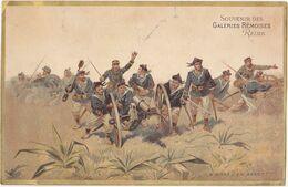 Ancien Grand Chromo / SOUVENIR DES GALERIES REMOISES REIMS / A BRAS, EN AVANT (Militaires) - Altri
