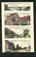 AK Spreenhagen, Dorfstrasse Mit Gasthof Otto Pehl, Kaufhaus Mit Bäckerei, Schule Mit Post - Spreenhagen