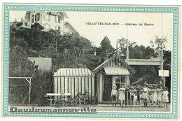 CPA - 76 - VEULETTE SUR MER - Intérieur Du Casino - Enfants Devant Les Cabines De Plage   ***SUPERBE*** - Andere Gemeenten