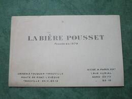 LA BIÈRE POUSSET - 1, Rue Curial à PARIS - Fondée En 1879 - Andere Sammlungen