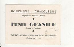 Saint Sernin Sur Rance Carte Pub Boucherie Charcuterie Granier Carte 125 X 90 - Andere Gemeenten