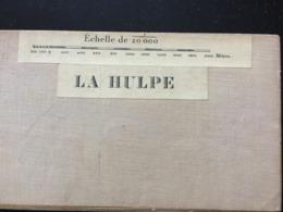 LA HULPE- Plan Carte Sur Toile 1894 ( Genval, Tervueren, Notre-Dame-au-Bois, Molenberg, Hoelaert,...) - Geographische Kaarten