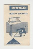 Suikerzakje - Sachet De Sucre ERRES Mixer En Strijkijzer R.S. Stokvis & Zonen N.v. Rotterdam (NL) - Zucchero (bustine)