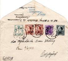 Spanien 1931, 5 Marken Auf Hotel Brief V. Bilbao N. Schweden - Sin Clasificación