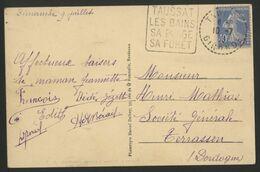 DAGUIN DE TAUSSAT Avec C. à D. Pointillé (voir Description) - Mechanical Postmarks (Other)