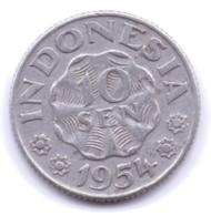 INDONESIA 1954: 10 Sen, KM 6 - Indonesia
