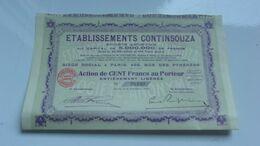 Ets CONTINSOUZA (1924) - Actions & Titres