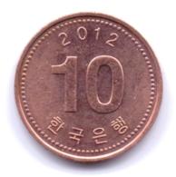 S KOREA 2012: 10 Won, KM 103 - Korea, South