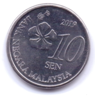 MALAYSIA 2019: 10 Sen, KM 202 - Malesia