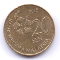 MALAYSIA 2015: 20 Sen, KM 203 - Malesia