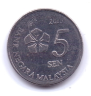 MALAYSIA 2015: 5 Sen, KM 201 - Malasia