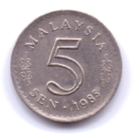 MALAYSIA 1985: 5 Sen, KM 2 - Malesia