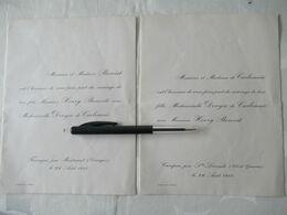 1911 MONTCARET Ste LIVRADE Mariage Faire Part - Mariage