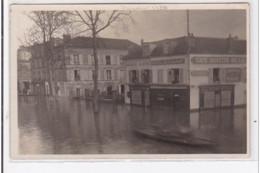VILLENEUVE-SAINT-GEORGES : Inondations, Cafe Buvette, Hôtel Restaurant, Horlogerie, Bijouterie - Très Bon état - Villeneuve Saint Georges
