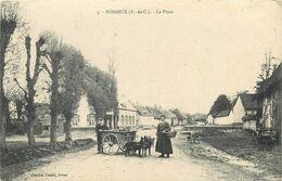 FOSSEUX-la Place-attelage De Chiens - Autres Communes