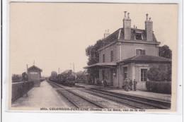 COLOMBIER-FONTAINE : La Gare, Vue De La Voie - Tres Bon Etat - Sonstige Gemeinden