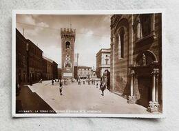 Cartolina Illustrata Recanati - La Torre Del Borgo E Chiesa Di S. Domenico, Non Viaggiata - Andere Städte