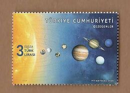 AC - TURKEY STAMP -  THE PLANETS MNH 08 SEPTEMBER 2020 - 1921-... Repubblica