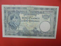 BELGIQUE 100 FRANCS 11-12-29 Circuler (B.18) - 100 Francs & 100 Francs-20 Belgas