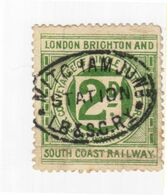Ticket De Seconde Classe Du Brighton Railway Entre 1868 Et 1922 - Europa