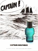 """PUB PARFUM """" CAPTAIN De MOLYNEUX """" Par """" MOEBIUS """" """" GIR """" (Jean Giraud) 1978 - Publicités"""