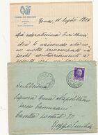 1929 ROMA UFFICIO CAMERA DEI DEPUTATI + CARTA INTESTATA SINDACATO DELLA STAMPA PARLAMENTARE - Marcofilía