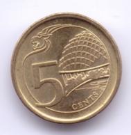 SINGAPORE 2018: 5 Cents, KM 345 - Singapore