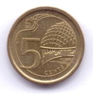 SINGAPORE 2014: 5 Cents, KM 345 - Singapore