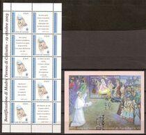 (Fb).Vaticano.2003.Lotto 2 Foglietti Nuovi,integri (184-20) - Blocks & Kleinbögen