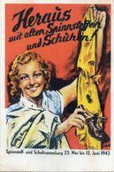 DC494 - WW2 Germany Propaganda Deutschland 2. Weltkrieg - Spinnstoff- Und Schuhsammlung 1943 REPRO - War 1939-45